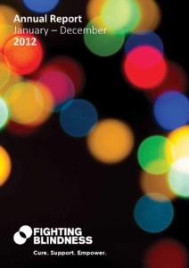 Front cover annual report 2012