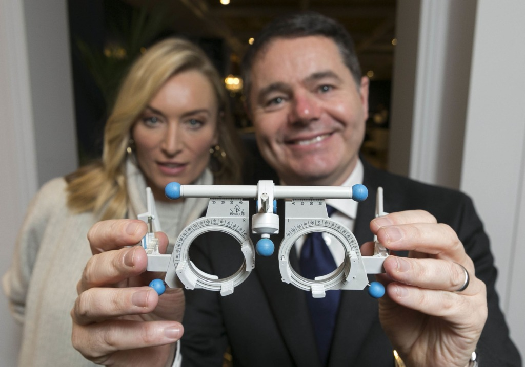 Victoria Smurfit and Paschal Donohoe TD