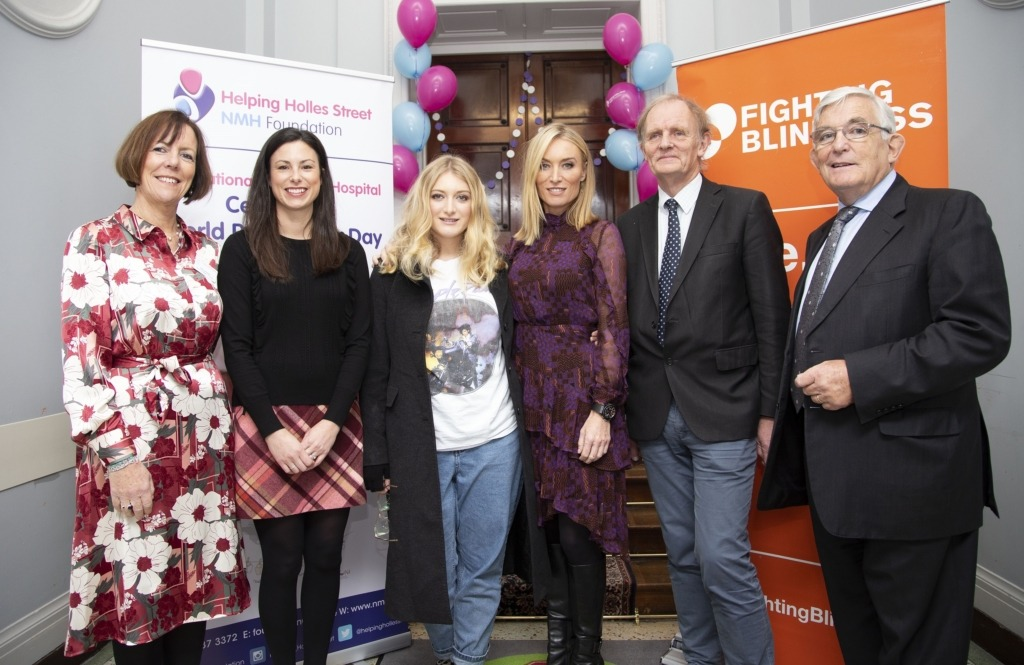Mary Brosnan, Director of Midwifery, Kerry Beckett, Marketing Manager, its4women.ie, Evie Baxter, Victoria Smurfit and Dr. John Murphy, consultant neonatologist, The National Maternity Hospital stand together