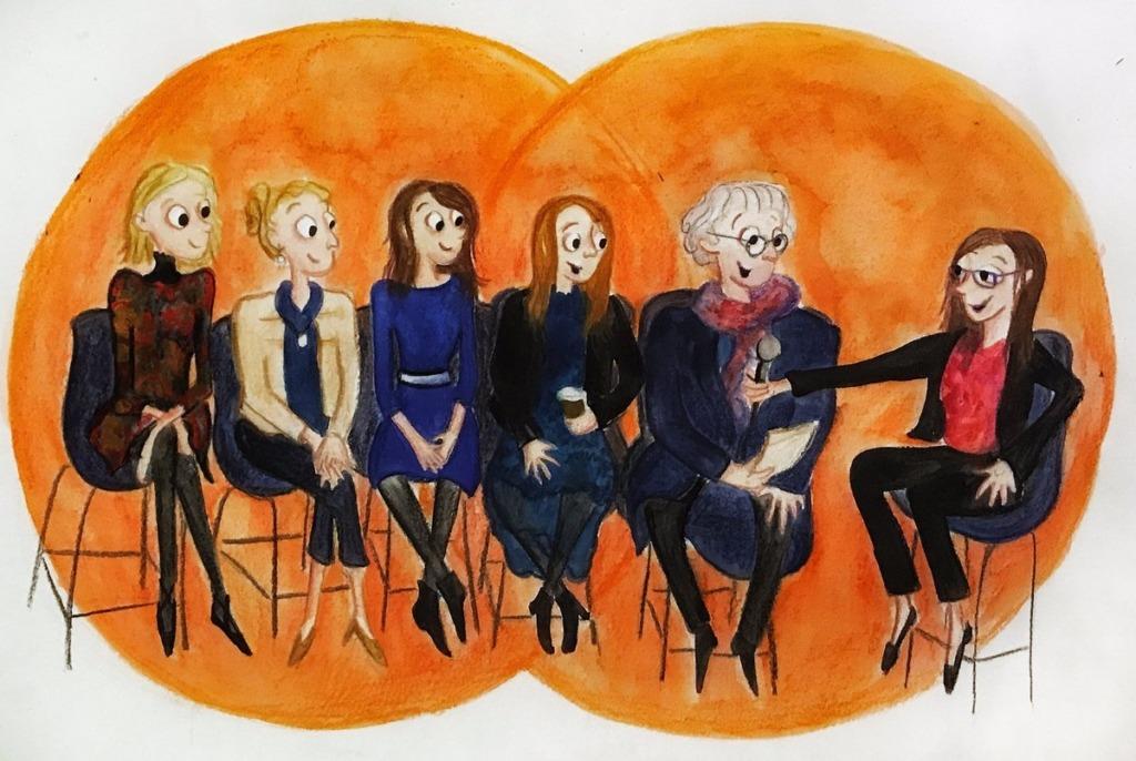 Illustration of panel members